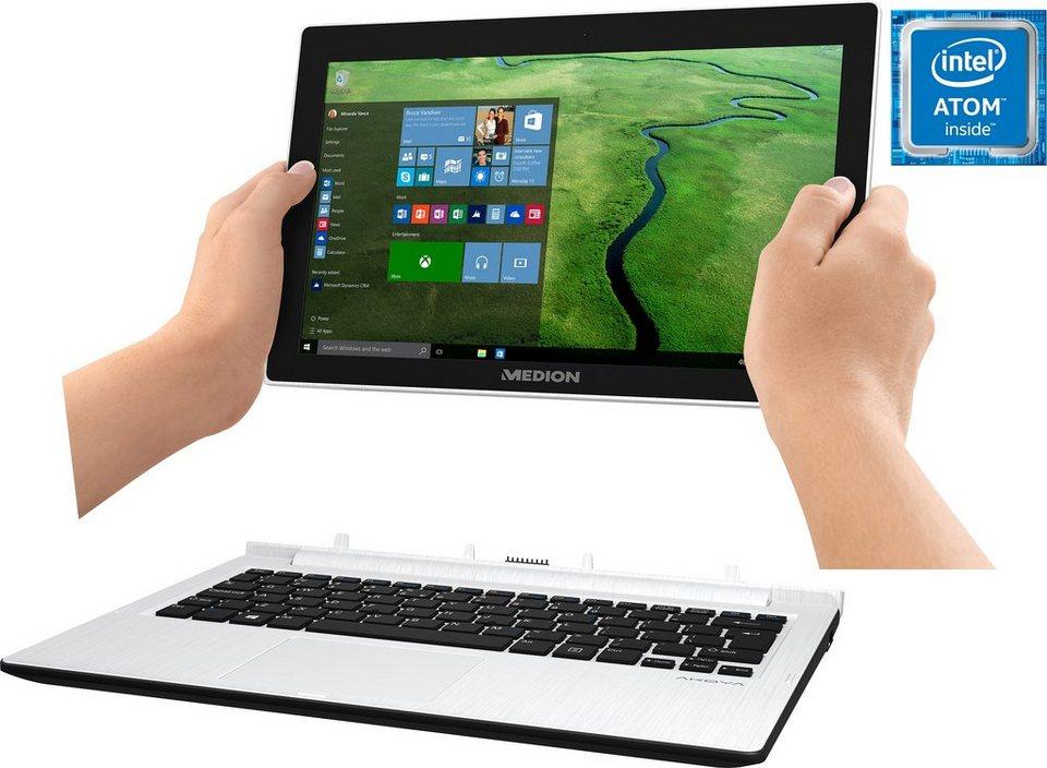 Medion® Akoya Convertible Notebook, Intel® Atom™, 29,5 cm (11,6 Zoll), 64 GB Speicher, 2048 MB in weiß