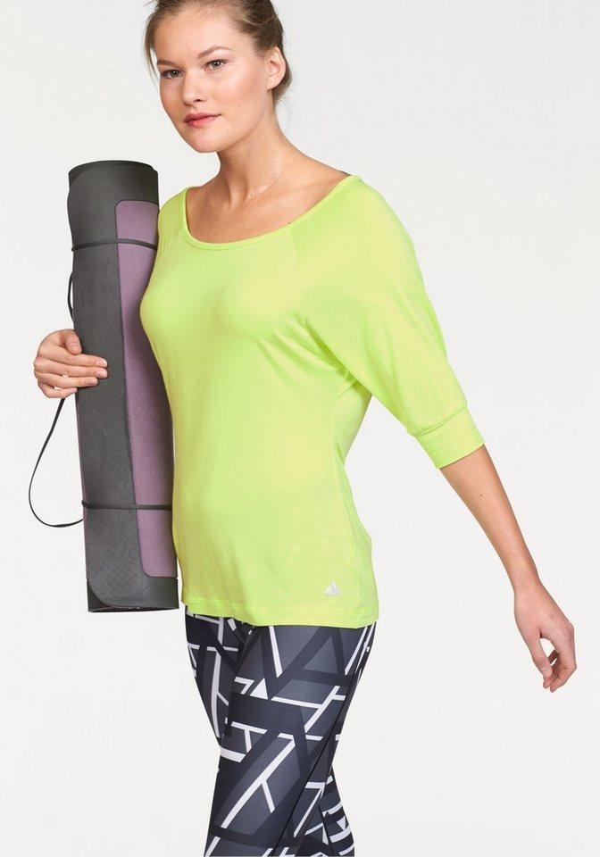 adidas Performance YOGI TWIST TEE Yogashirt in Gelb