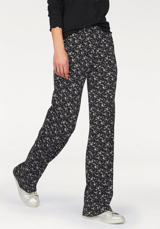 Boysen's Jerseyhose Palazzo-Pants in schwarz-geblümt