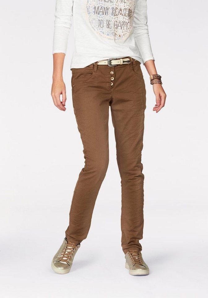 Tom Tailor 5-Pocket-Hose mit Knopfverschluss in caramel