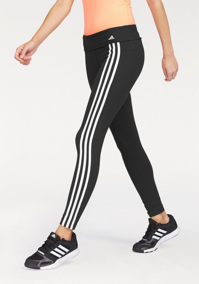 adidas Performance Leggings in Schwarz-Weiß