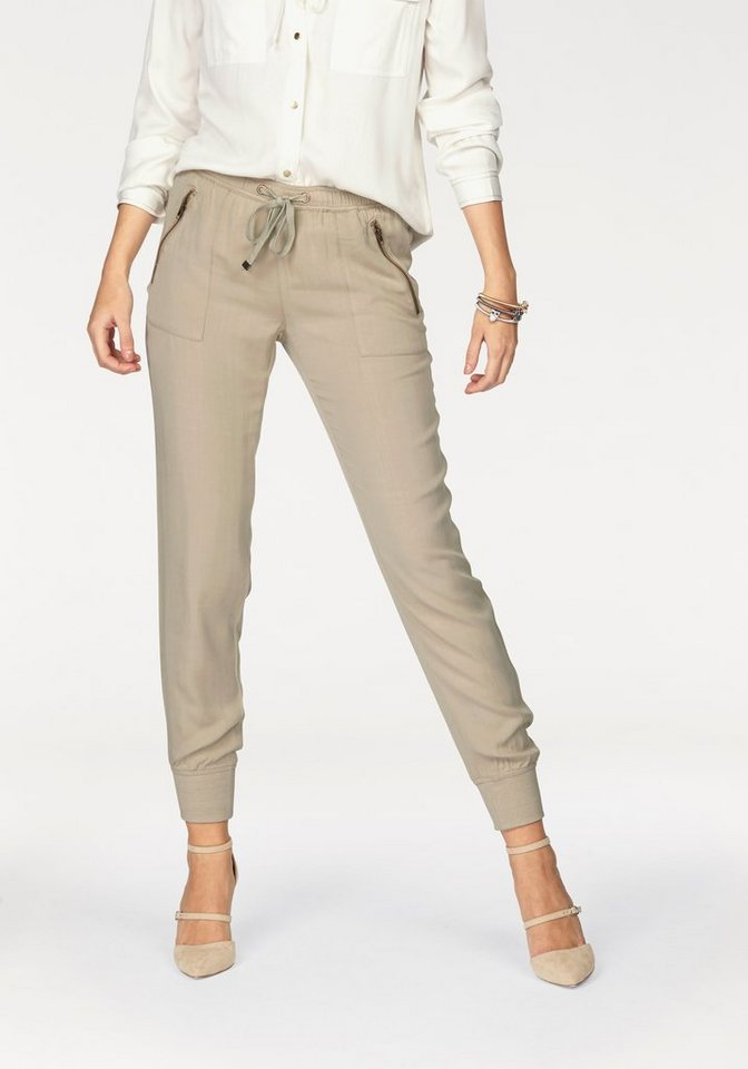 Laura Scott Stoffhose Jogg-Pants in beige