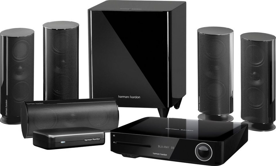Harman/Kardon BDS 885S 5.1 Heimkinosystem (Blu-ray-Player, 525 W, WLAN, Bluetooth, Spotify) in schwarz
