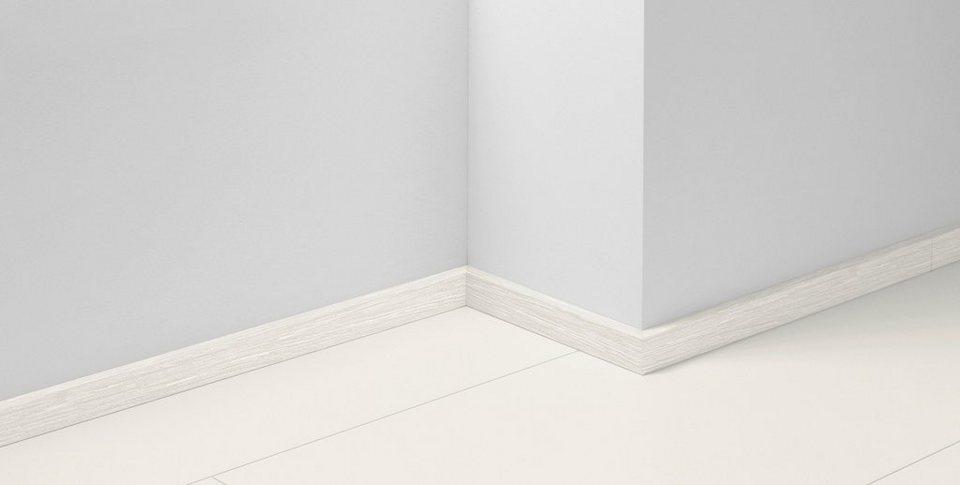 Sockelleisten SL 3 passend zum Laminat »Basic 200«, eiche weiß Nachbildung in weiß