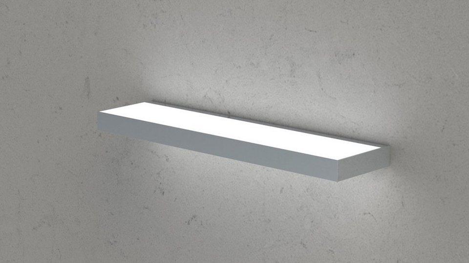 Regalboden inkl. Beleuchtung, Breite 90 cm in grau