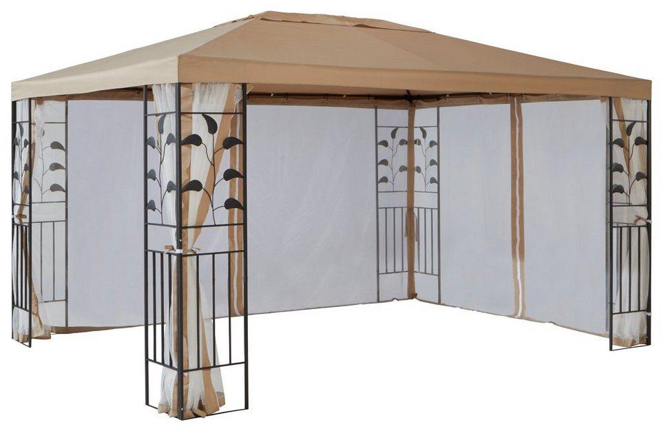 Seitenteile für Pavillon , »Modern«,»Tulpe«, »Blätter« sandfarben in natur
