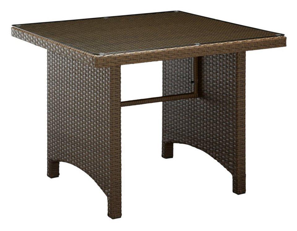 Tisch »Lanzarote« 90 x 90 cm in braun