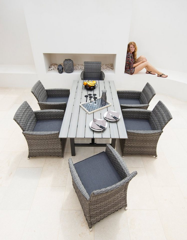 Best Fabulous Gartengut Tlg Sicilia Sessel Tisch X Cm With Gartenmbel Set Rattan  Grau With Gartenmbel Rattan Anthrazit