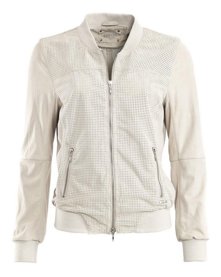 MAZE Lederblouson, Damen »Campinas« in off white
