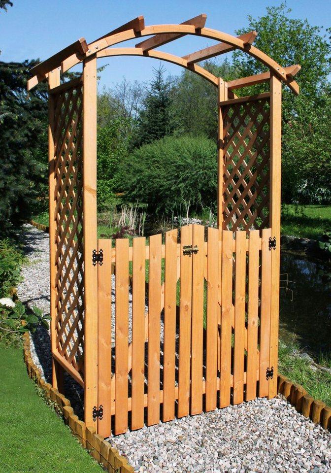 Holzrosenbogen »Pergola Diana SET mit Türen« in braun