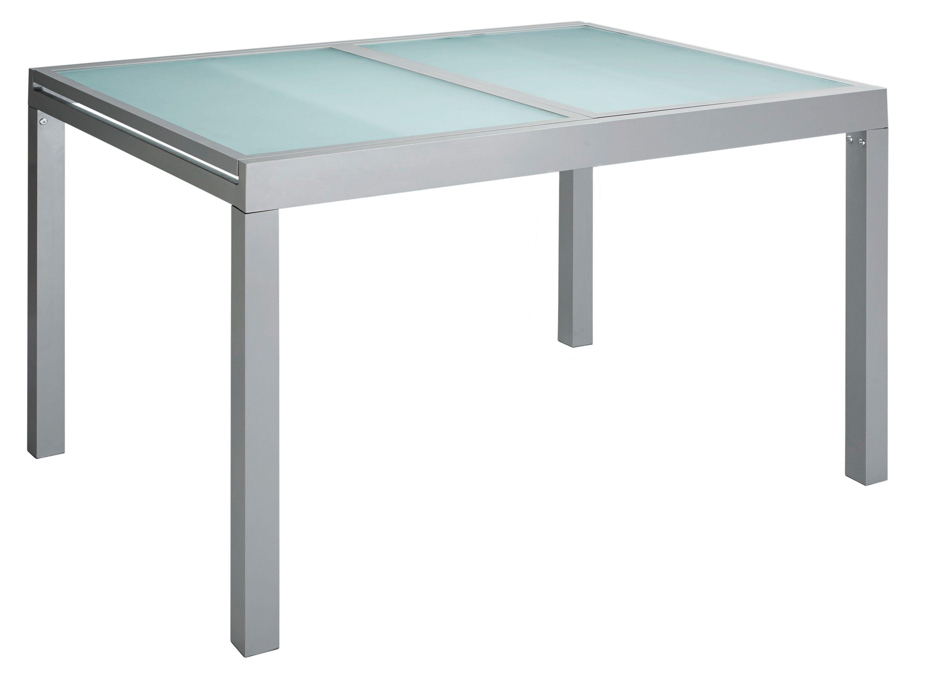 Gartentisch, ausziehbar, Aluminium, 120-180x90 cm