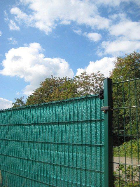 Sichtschutzblende anthrazit für Zäune, Länge 5 m (in 4 Höhen)