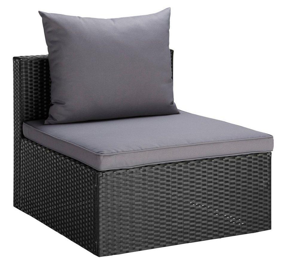 Polyrattan lounge sessel schwarz  Loungesessel »Singapur«, Polyrattan, inkl. Auflagen online kaufen | OTTO