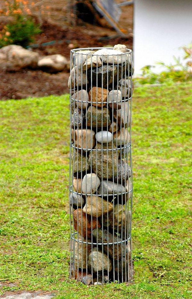 Freistehende, dekorative Steinsäule rund
