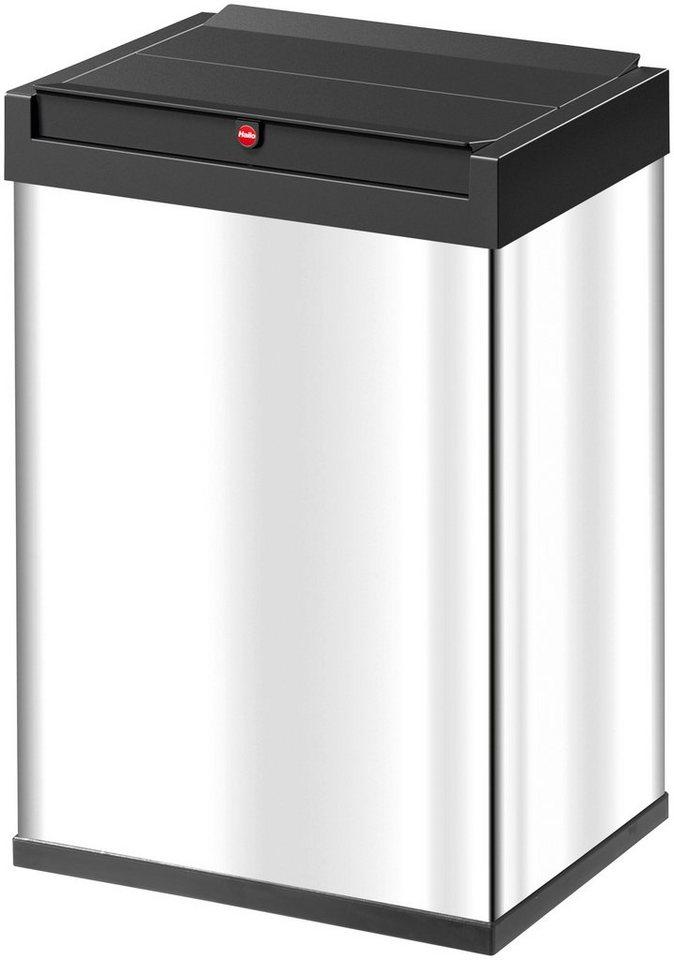 Großraum-Abfalleimer »Big-Box 40«, edelstahl in edelstahlfarben