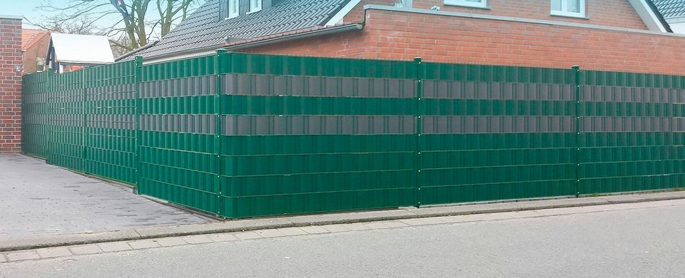 Wind-Sichtschutzrolle Grün für Stabmattenzäune, Länge 25 m