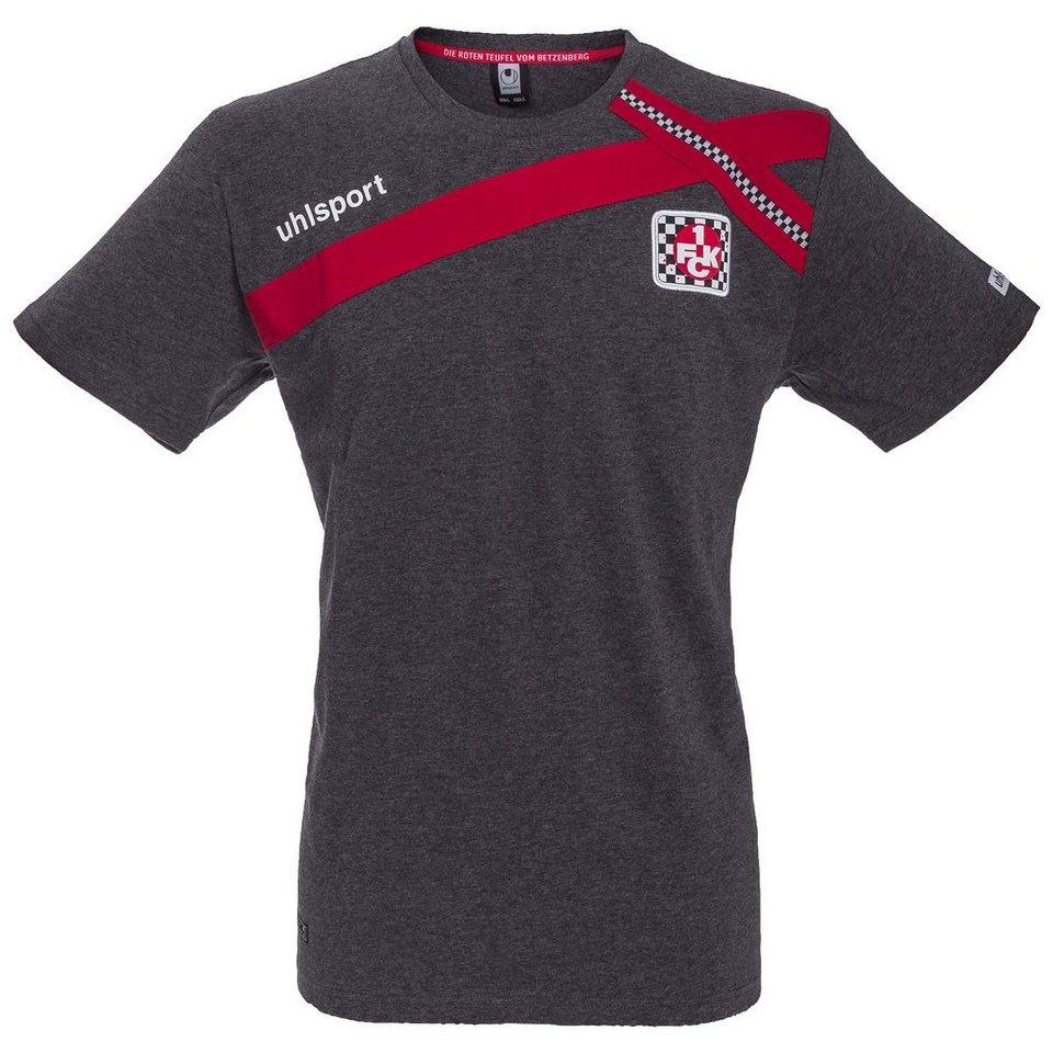 UHLSPORT FCK T-Shirt Cross-Design 15/16 Kinder in anthrazit / chilirot