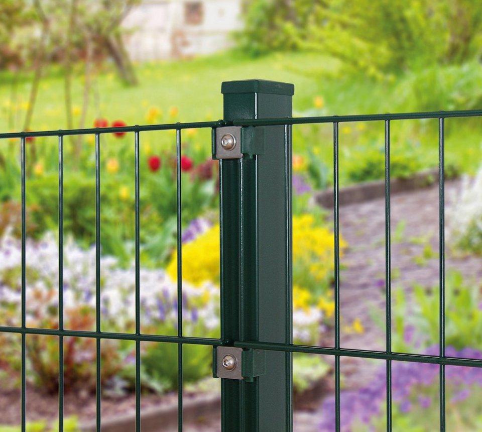 Zaunpfosten für Einzel- und Doppelstabmatten grün (in 3 Höhen)