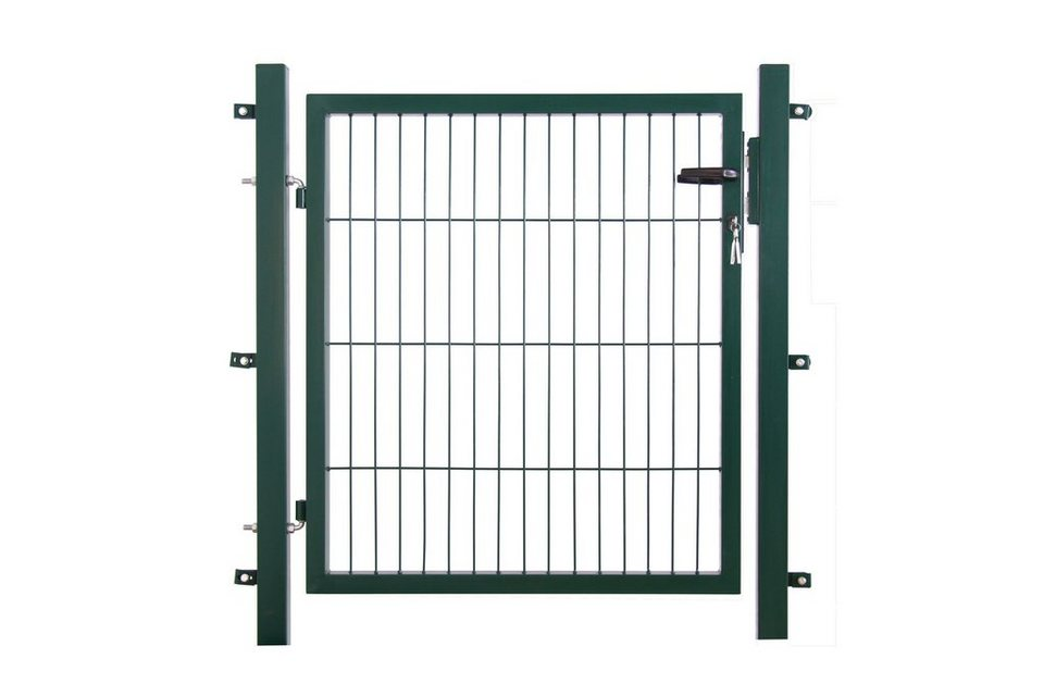 Zaun-Einzeltür für Einzelstabmatte grün, Breite: 100 cm (in 3 Höhen)