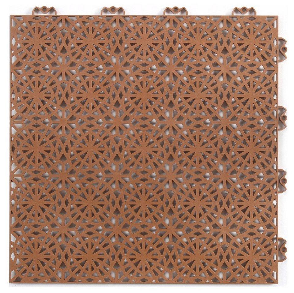 Bodenplatten-Set: »Kunststofffliese XL terrakotta« in orange
