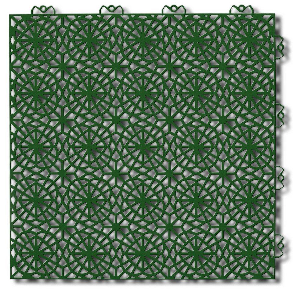 Bodenplatten-Set: »Kunststofffliese XL grün« in grün
