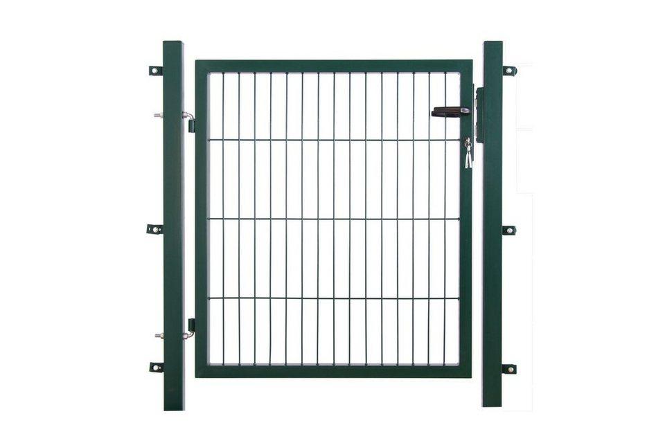 Zaun-Einzeltür für Doppelstabmattenzaun in Grün (in 3 Höhen)