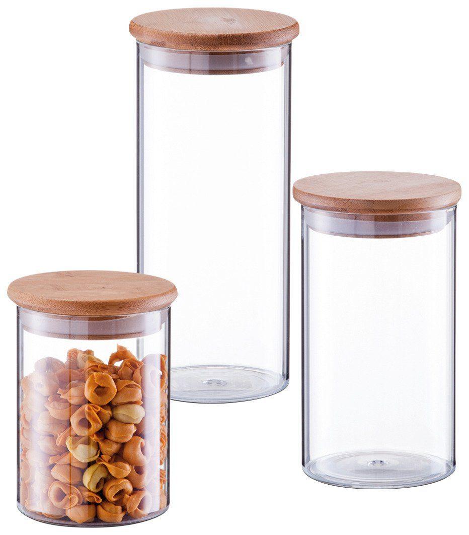Vorratsglas »Design«, 3er Set, mit Bambusdeckel