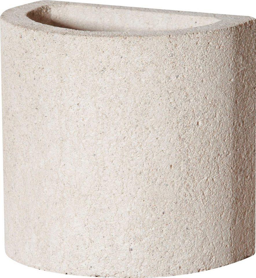BUSCHBECK Kaminverlängerung , für Gartenkamin »Rondo«, B/T/H: 25/35/34 cm in weiß