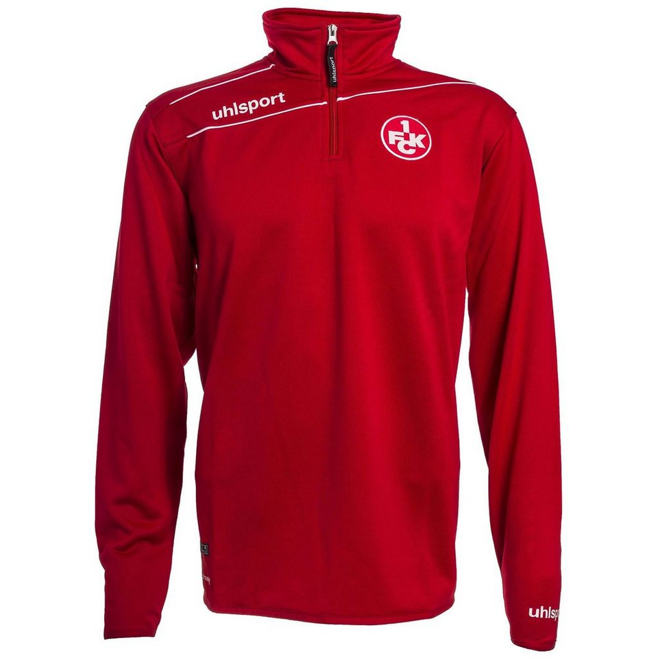 UHLSPORT FCK STREAM 3.0 1/4 Zip Top 15/16 Kinder in chilirot / weiß