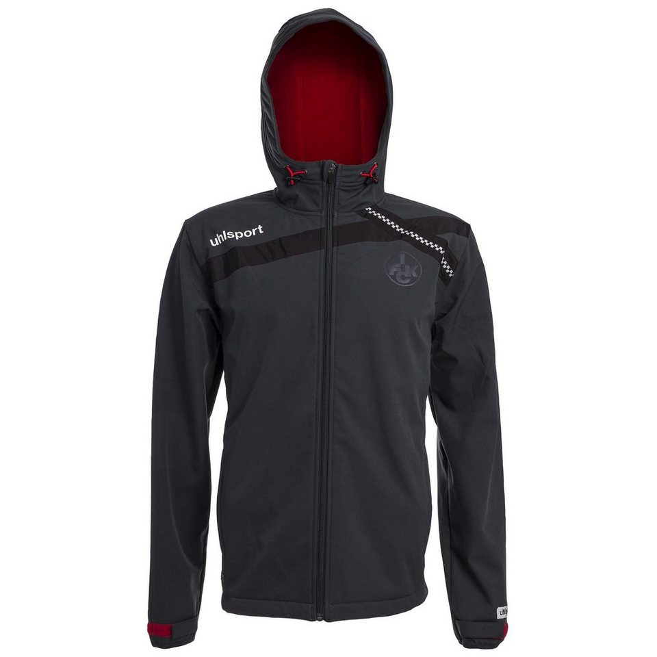 UHLSPORT FCK Softshelljacke 15/16 Kinder in anthrazit / chilirot