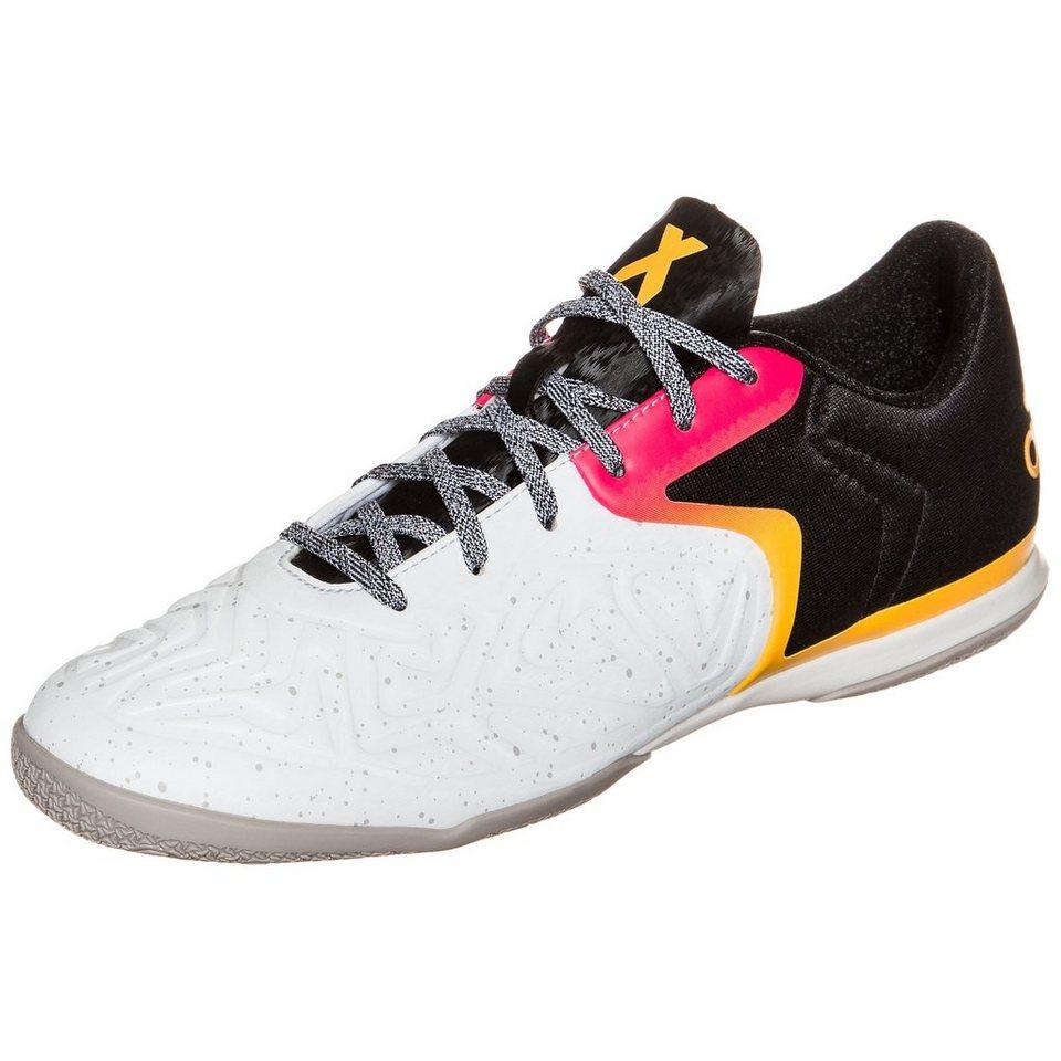 adidas Performance X 15.2 Court Indoor Fußballschuh Herren in weiß / schwarz