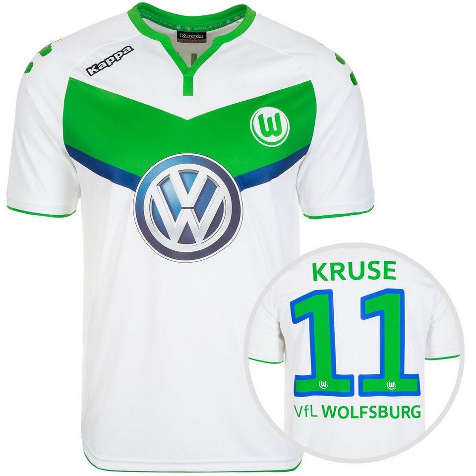 KAPPA VfL Wolfsburg Trikot Home Kruse 2015/2016 Herren in weiß / grün
