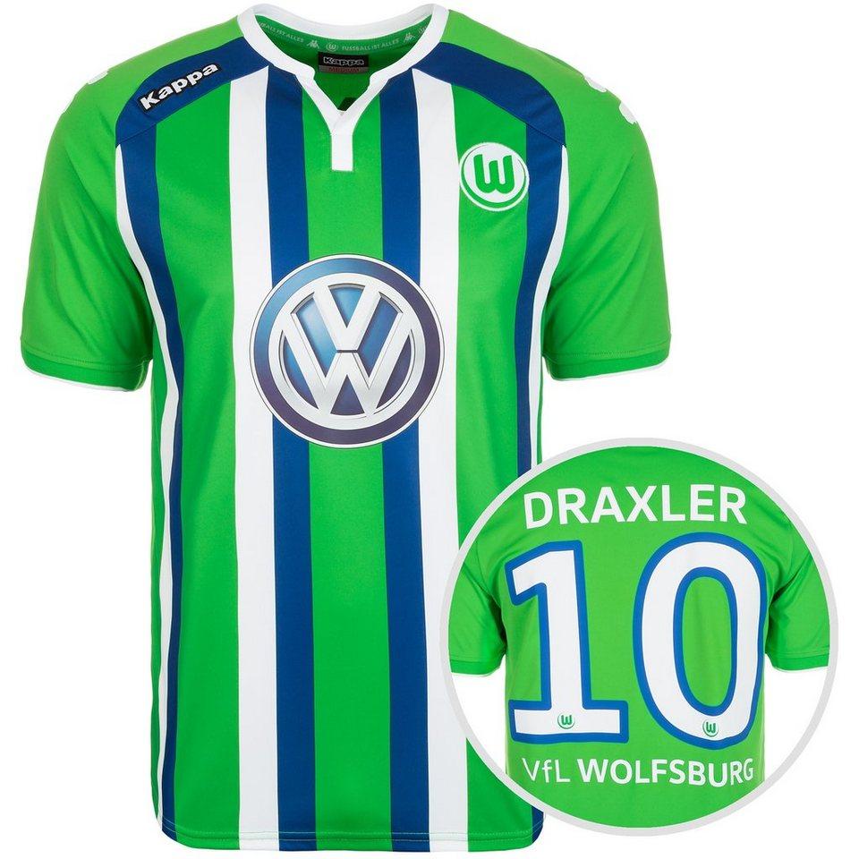 KAPPA VfL Wolfsburg Trikot Away Draxler 2015/2016 Herren in grün / blau / weiß