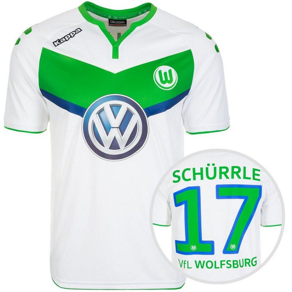 KAPPA VfL Wolfsburg Trikot Home Schürrle 2015/2016 Herren in weiß / grün