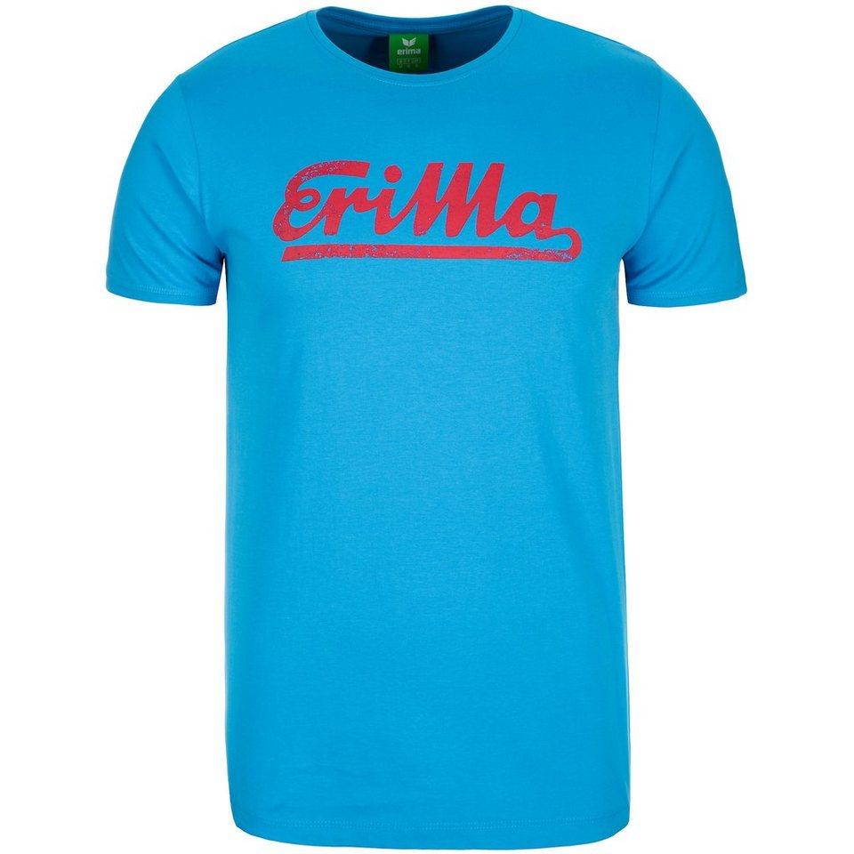 ERIMA Retro T-Shirt Herren in curacao/ruby