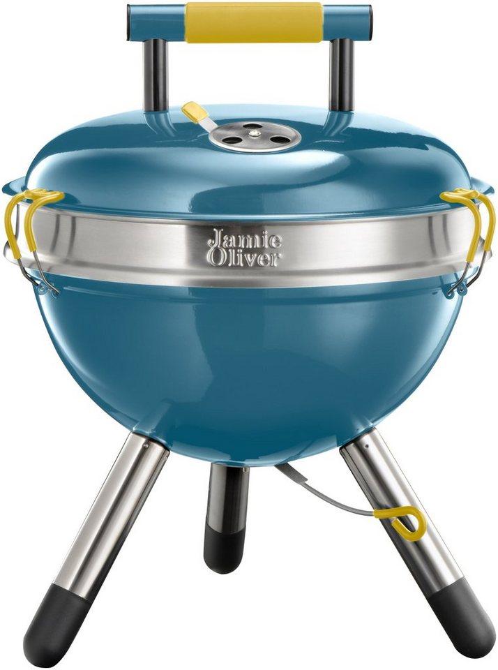 Holzkohlegrill »JAMIE OLIVER Park BBQ Smoky Blue« in blau