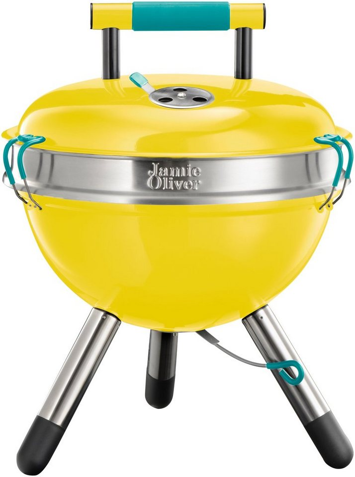 Holzkohlegrill »JAMIE OLIVER Park BBQ Sunflower Yellow« in gelb
