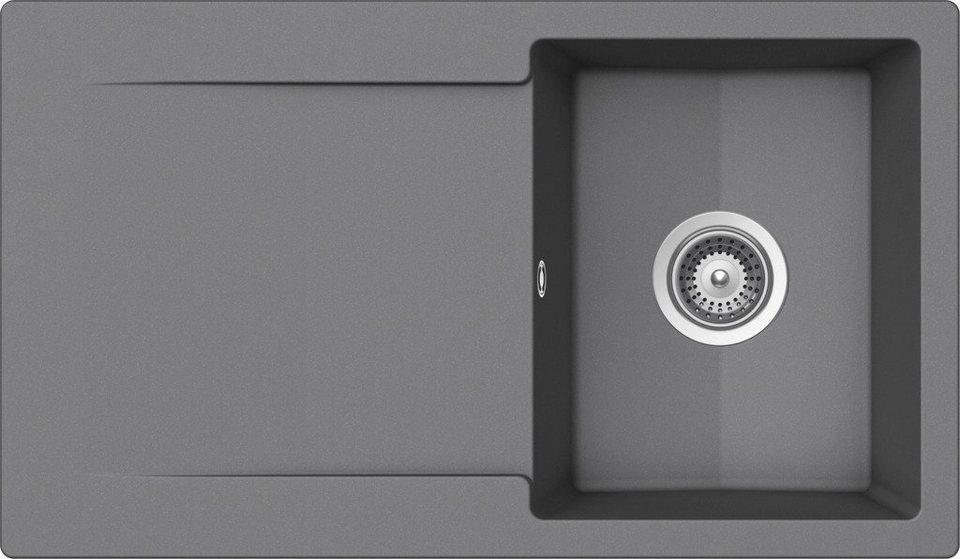 Domogranitspüle »Pisa«, ohne Restebecken, 86x50 cm in grau