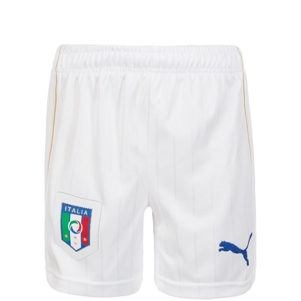 PUMA Italien Short Home Kinder EM 2016 in weiß / blau