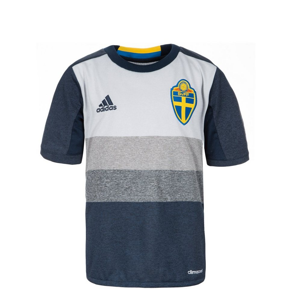 adidas Performance Schweden Trikot Away EM 2016 Kinder in dunkelblau / grau
