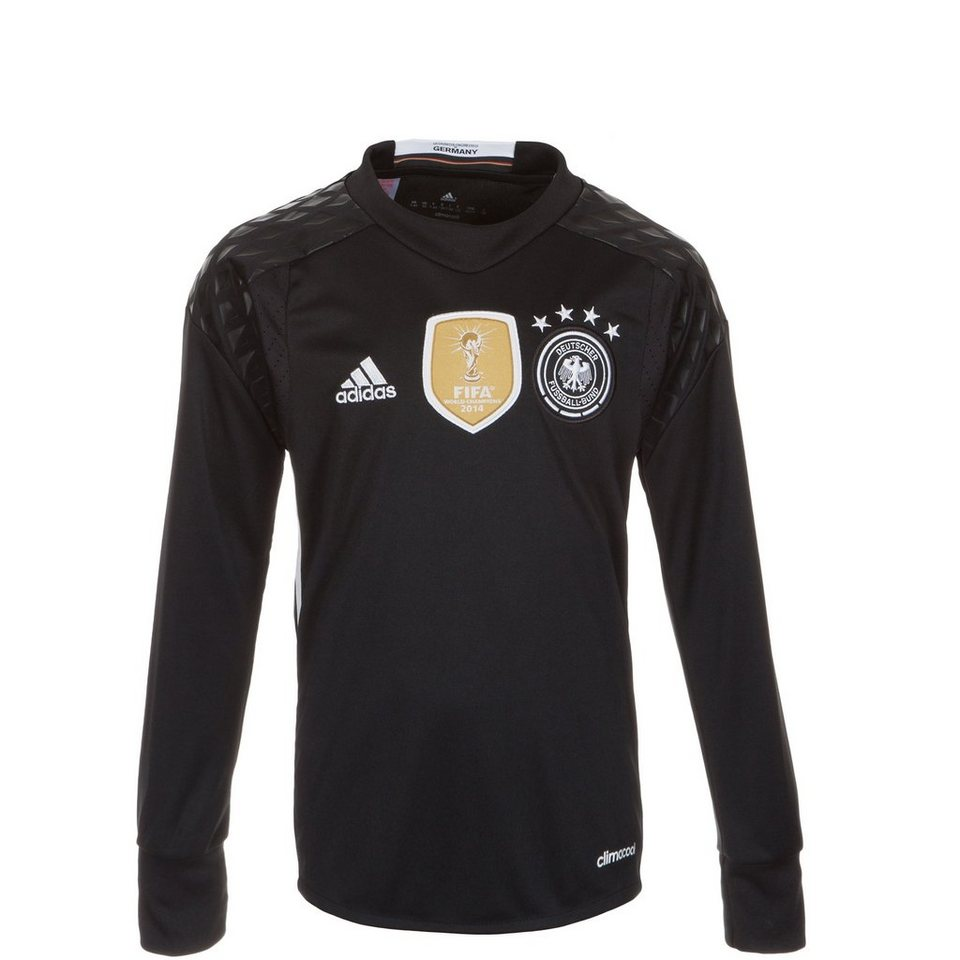 adidas Performance DFB Torwartrikot Home EM 2016 Kinder in schwarz / weiß
