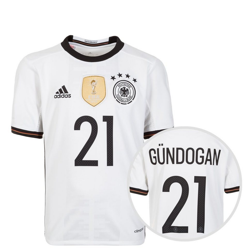 adidas Performance DFB Trikot Home Gündogan EM 2016 Kinder in weiß / schwarz
