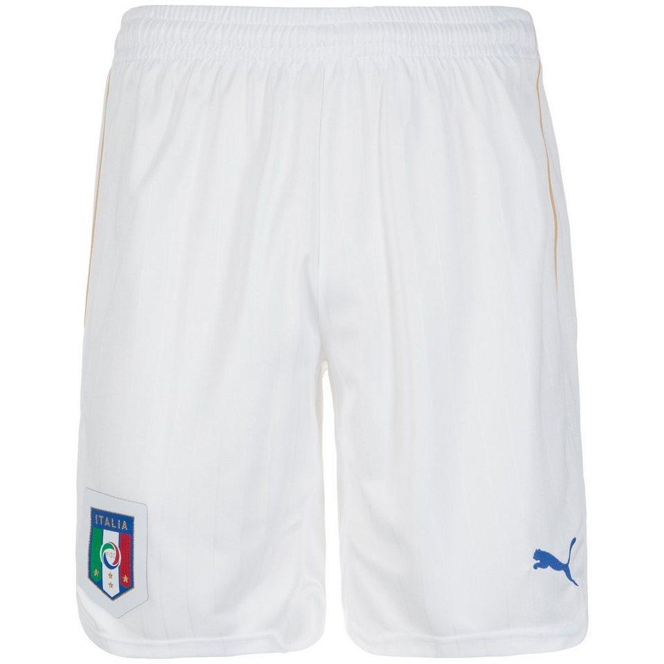 PUMA Italien Short Home Herren EM 2016 in weiß / blau