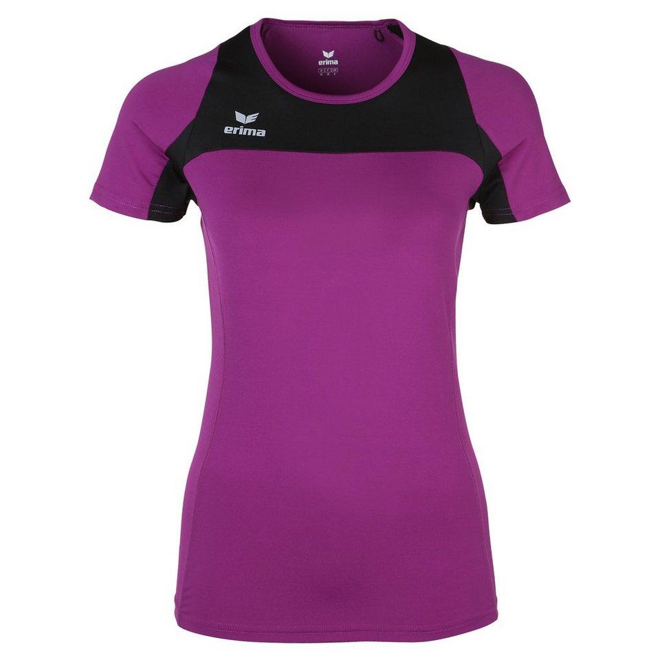 ERIMA Race Line Running T-Shirt Damen in lila/schwarz
