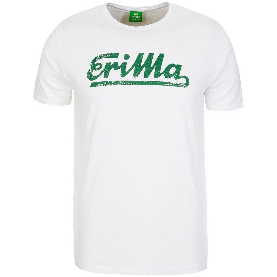 ERIMA Retro T-Shirt Herren in weiß/smaragd