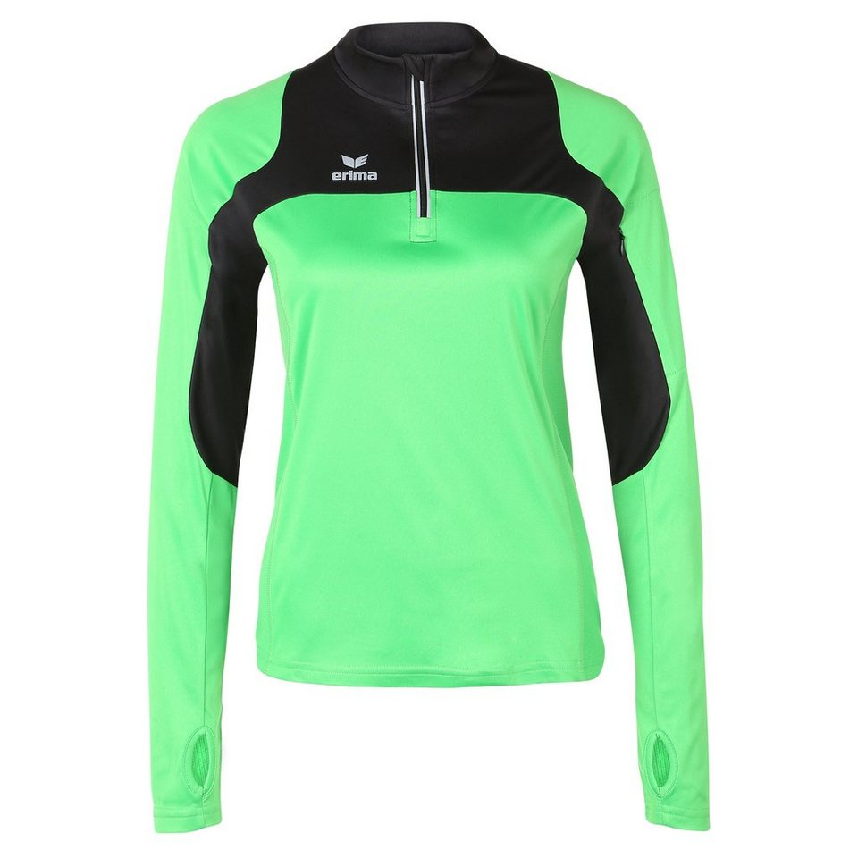 ERIMA Race Line Running Longsleeve Damen in green/schwarz