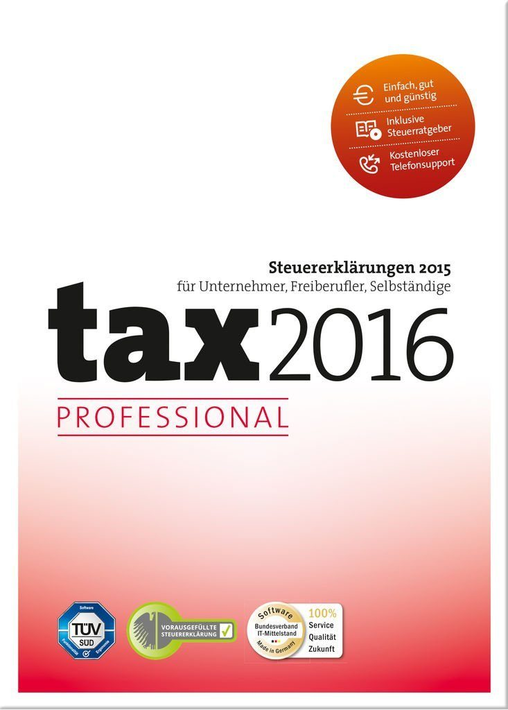 Buhl Data PC - Spiel »tax 2016 Professional«