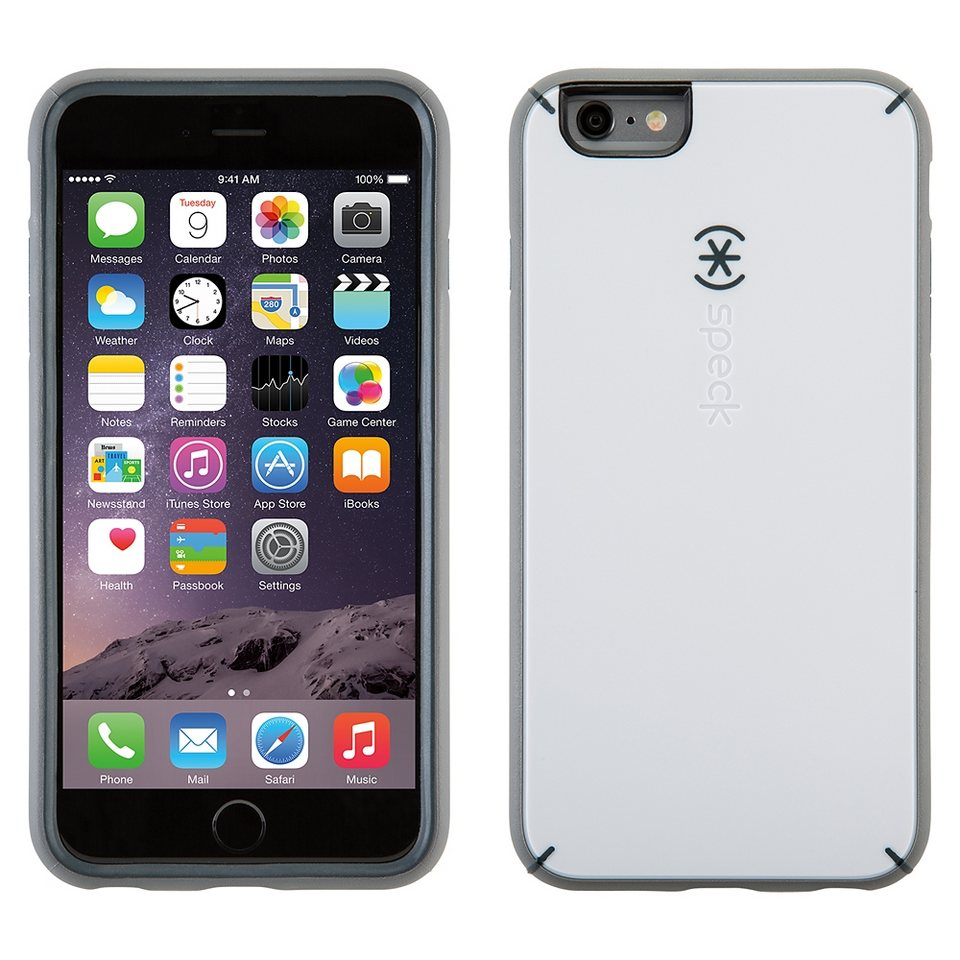 "Speck HardCase »MightyShell iPhone (6/6S) Plus 5.5"" White/Charcoal« in weiss"