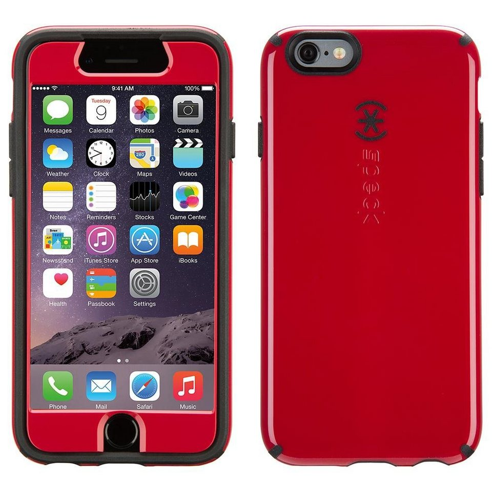 """Speck HardCase »CandyShell FacePlate iPhone (6) 4.7"""" Pomodoro Red/« in schwarz"""