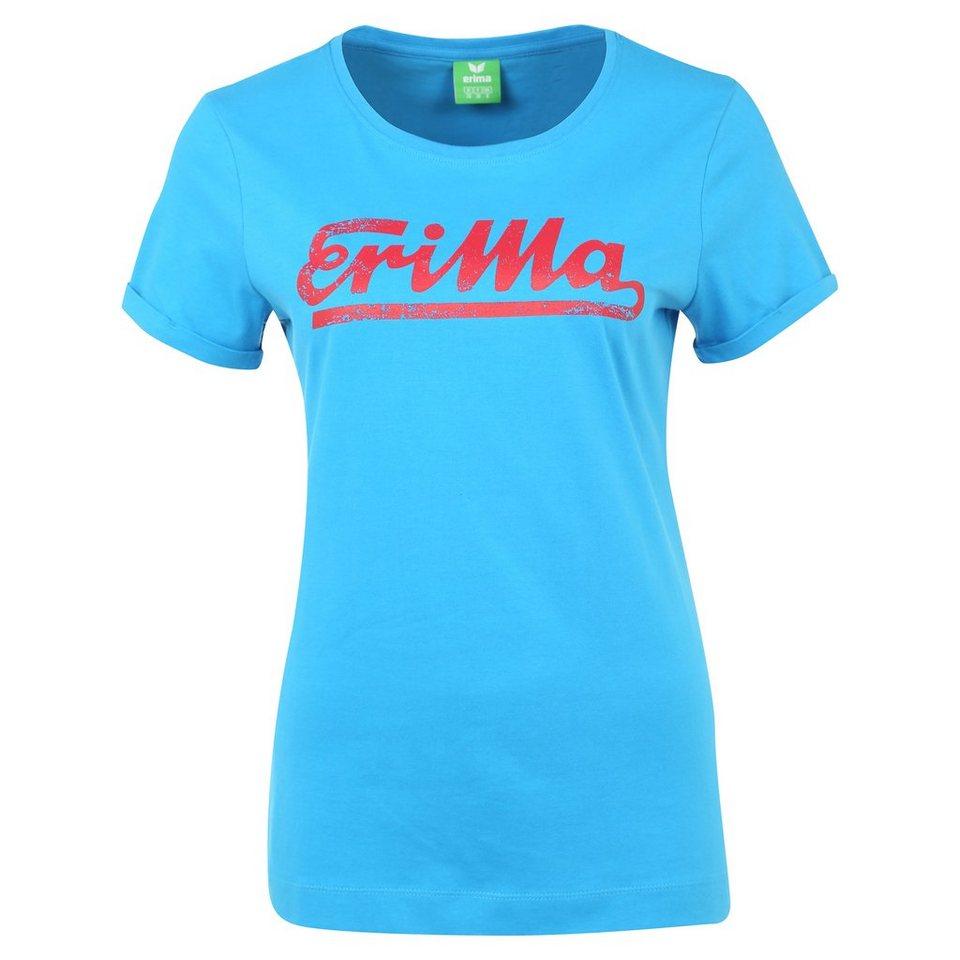 ERIMA Retro T-Shirt Damen in curacao/ruby